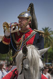 Soldier playing the trumpet Stock Photos