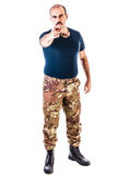 Soldier pointing at you Stock Images