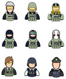 Soldier and police icon collection set 2 Royalty Free Stock Image