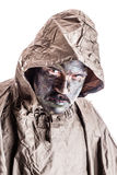 Soldier with poncho Royalty Free Stock Photography