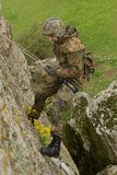 Soldier rappeling Royalty Free Stock Photos
