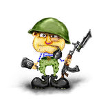 Soldier ready for battle. Soldiers in the army in full combat readiness Stock Photos