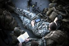 Soldier at Rest Royalty Free Stock Images