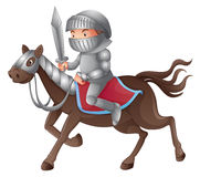 A soldier riding a horse Stock Images