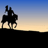 Soldier, riding a horse, statue Royalty Free Stock Photography