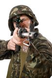 Soldier with a rifle Royalty Free Stock Photography