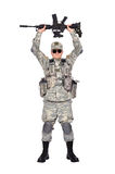 Soldier with rifle Royalty Free Stock Images
