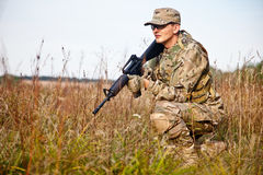 Soldier with a rifle Stock Image