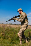 Soldier with a rifle Stock Photography