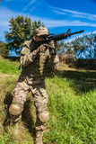 Soldier with a rifle Royalty Free Stock Photos