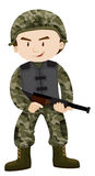 Soldier with rifle gun. Illustration Royalty Free Stock Photo