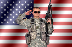 Soldier with rifle Stock Photos