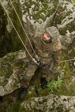 Soldier on the rope Royalty Free Stock Images