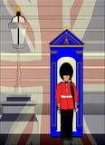 Soldier On Royal Guard Duty stock illustration