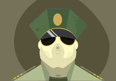 The soldier's face Royalty Free Stock Photos
