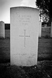 Soldier's grave Stock Images