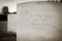 Soldier's grave Royalty Free Stock Photo