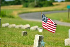 Soldier's Grave. Royalty Free Stock Images