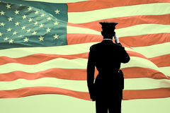 Soldier's Saluting Royalty Free Stock Photo
