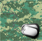 Soldier's token for camouflage fabrics Stock Photo