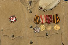 Soldier's tunic. Royalty Free Stock Photos