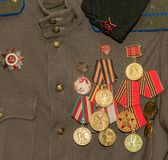 Soldier's tunic. Royalty Free Stock Images