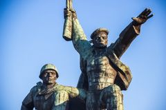 The Soldier and Sailor Memorial to Heroic Defenders of Sevastopol. Soldier and Sailor Memorial to Heroic Defenders of Sevastopol Stock Photo