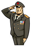 Soldier salute. Vector of general soldier salute Royalty Free Stock Image