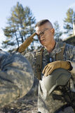Soldier Saluting stock images