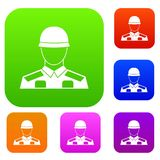 Soldier set collection Royalty Free Stock Image