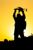 Soldier silhouette Stock Photos