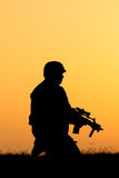 Soldier silhouette Royalty Free Stock Photography