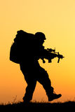 Soldier silhouette Royalty Free Stock Photo