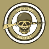 Soldier Skeleton Illustration Stock Image