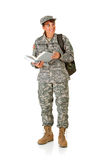 Soldier: Soldier Going Back to School Stock Photography