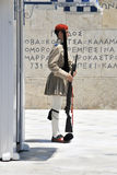 Soldier standing in Athens Royalty Free Stock Photography