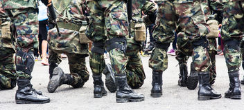 Soldier standing Stock Image