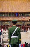 Soldier stands guard at Hall of Supreme Harmony,beijing Stock Images