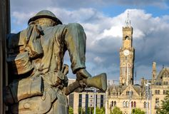 Soldier Statue Bradford UK Royalty Free Stock Photos
