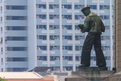 Soldier statue in the city center. Bangkok, Thailand - February 17,2014 : Soldier statue in the city center. To recall the war Royalty Free Stock Image