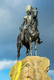 Soldier Statue in Edinburgh Square. Statue of soldier on horseback in Edinburgh Royalty Free Stock Photography