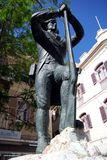 Soldier statue, Gibraltar. Royalty Free Stock Photography