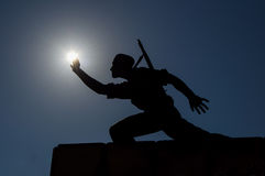 Soldier statue Stock Images