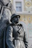 Soldier Statue in Trieste, Italy Stock Image