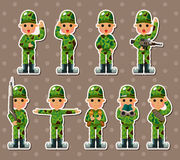 Soldier stickers Stock Photos