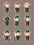 Soldier stickers Stock Image