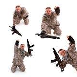 Soldier surrender stock image