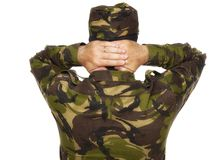 Soldier surrenders Royalty Free Stock Photography