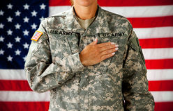 Soldier: Taking Pledge of Allegiance Royalty Free Stock Photo