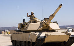 Soldier in a tank Stock Image
